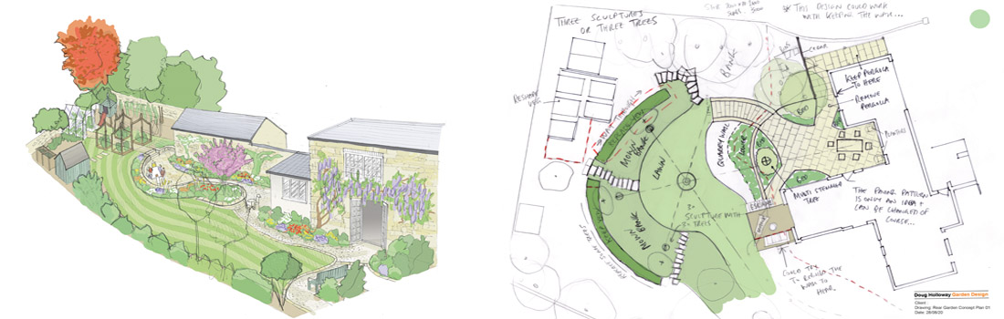 03 Concept Drawings Garden Designer Oxfordshire Doug Holloway 1