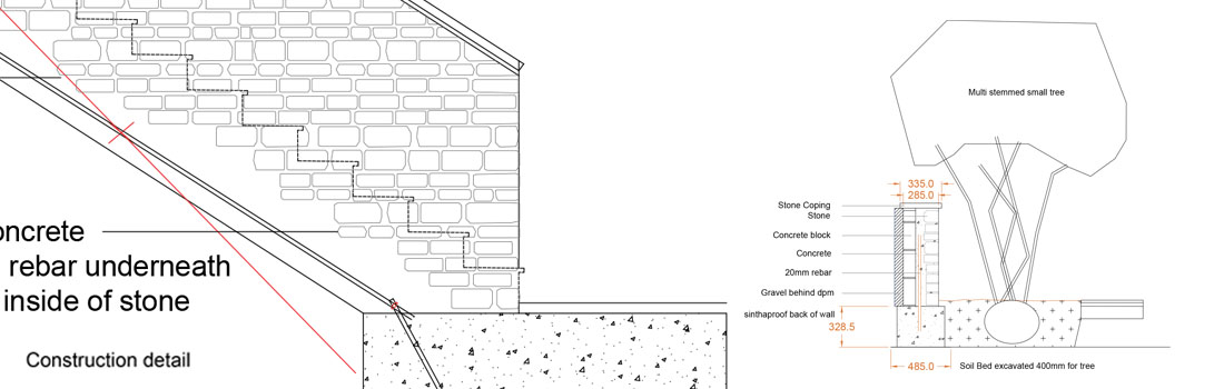 05 Construction Drawings For Garden Design Gloucestershire Warwickshire Oxfordshiredoug Holloway